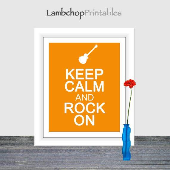 Keep Calm and Rock On Home Decor Printable by LambchopPrintables