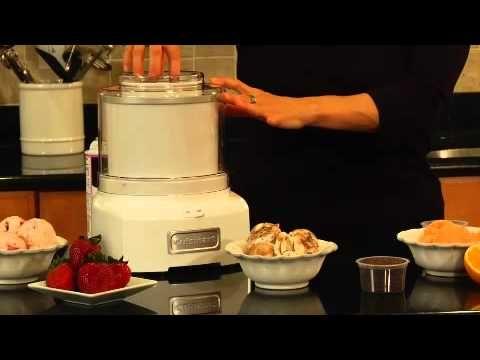 Cuisinart Frozen Yogurt - Ice Cream & Sorbet Maker (ICE-21) Demo Maker - YouTube