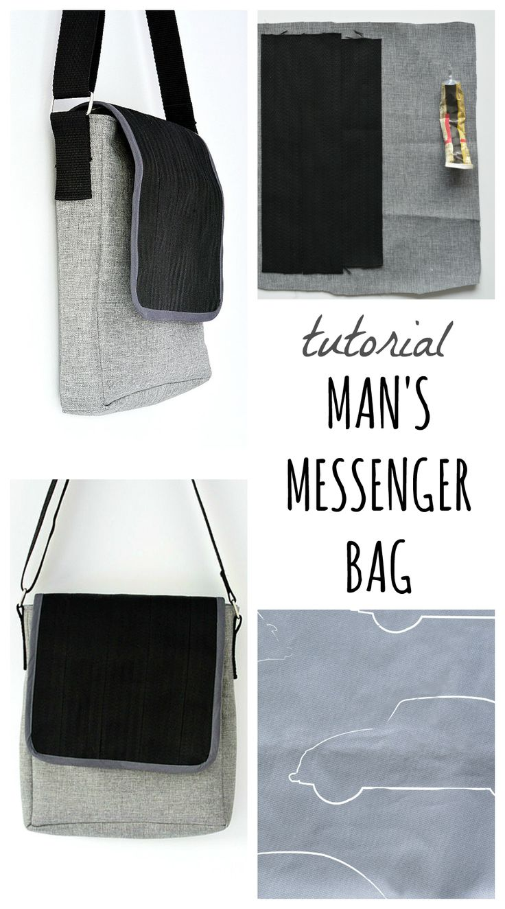 "Create your own car themed messenger bag with a seat belt strap for the flap. Find a full tutorial here and visit the collaborative board ""DIY bloggers for Volkswagen"" for more inspiring DIY instructions and ideas: https://uk.pinterest.com/volkswagen/diy-bloggers-for-volkswagen/"