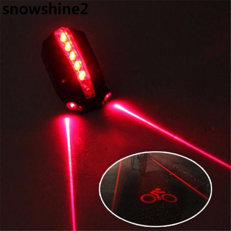 snowshine2#3001 2 Laser+5 LED Rear Bike Bicycle Tail Light Beam Safety Warning Red Lamp  free shipping wholesale