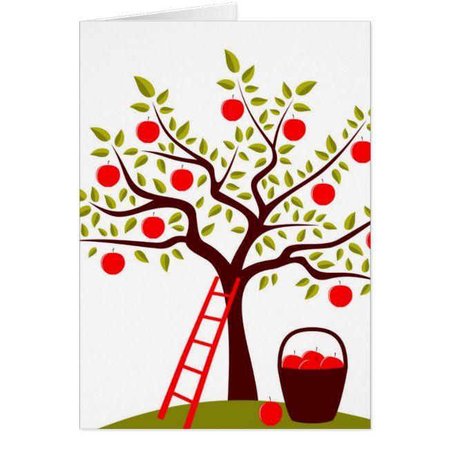 Apple Tree Zazzle Com In 2021 Drawing Apple Tree Drawing Tree Drawing Simple