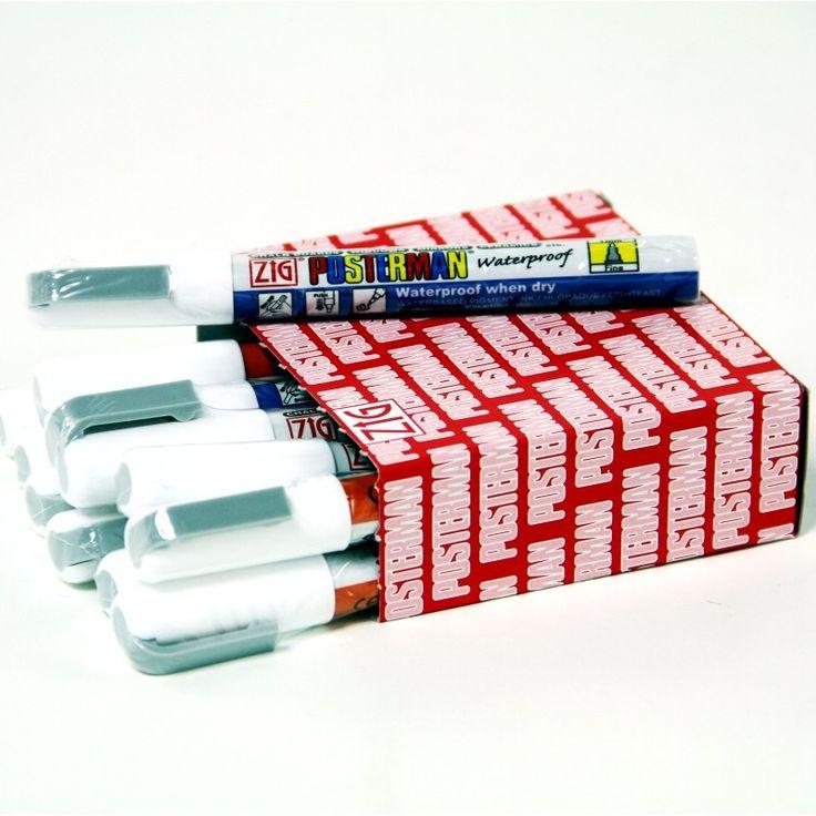 1mm White Posterman Chalk Pens