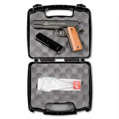 "Armscor Rock Island Armory 1911 Standard GI Semi Automatic Pistol .45 ACP 5"" Barrel 8 Rounds Smooth Wood Grips Parkerized Finish 51421 - 4806015514213"