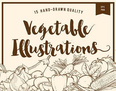 """Check out new work on my @Behance portfolio: """"Hand drawn vegetable illustrations"""" http://be.net/gallery/36062449/Hand-drawn-vegetable-illustrations"""