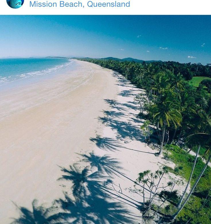 Palm Shadows on Mission Beach, Queensland ...