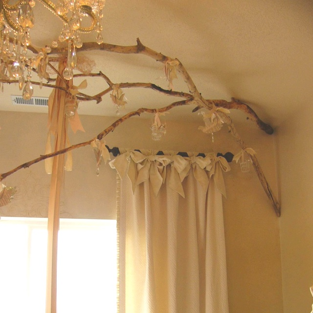 Curtain Hanging Ideas Endearing With Curtains Hanging From Tree Limbs Picture