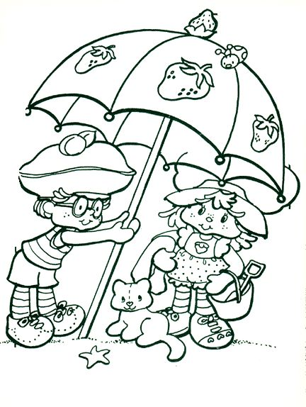strawberry shortcake color page coloring pages for kids cartoon characters coloring pages printable coloring pages color pages kids coloring pages - Strawberry Shortcake Coloring Book