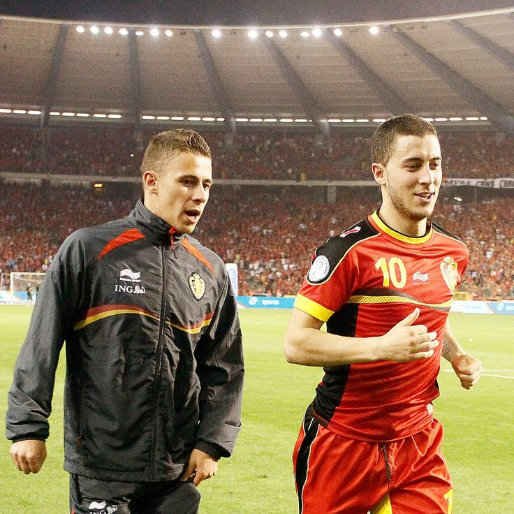 Eden Hazard and his brother, Thorgan Hazard. Belgium national team.