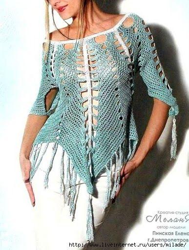 tunique crochet - free pattern