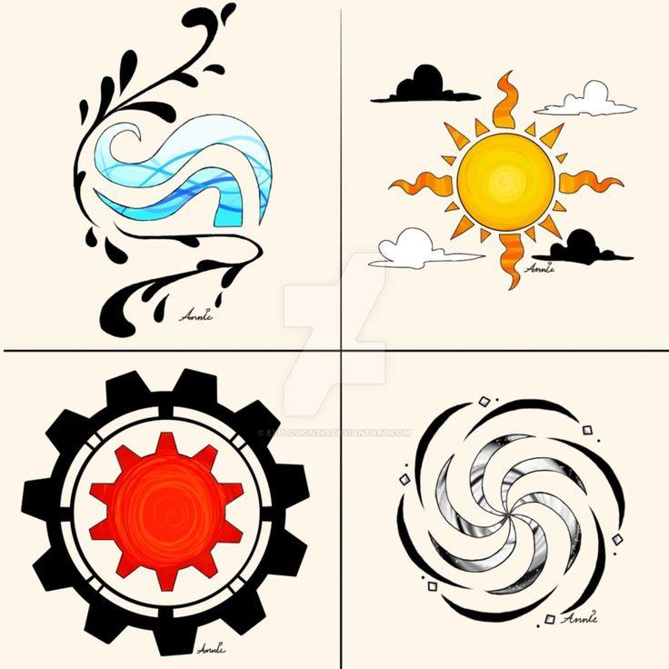 Homestuck Aspect Temporary Tattoo Designs by Explosion245 on DeviantArt