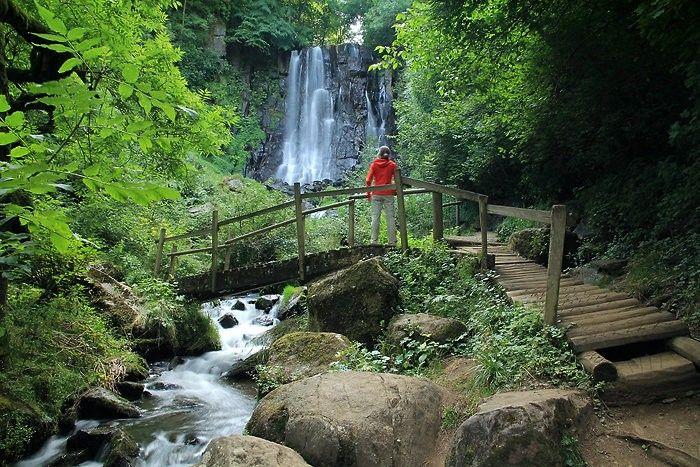 Cascade d'Anglard. Auvergne. France.