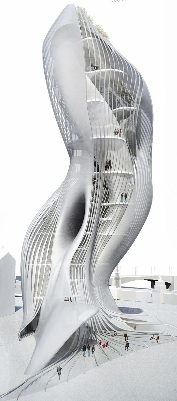 Il Moscow Fashion Palace, progettato da AmniosyA + Lash-up, ha vinto Menzione d'Onore nel recente concorso Arquitectum. Prendendo ispirazione e spunti dalla moda, danza (rs), l'arte, e la cultura e la storia russa, la sua forma provocatoria sarebbe un ambiente sontuoso imponente per la mostra dei migliori nomi del mondo della moda.
