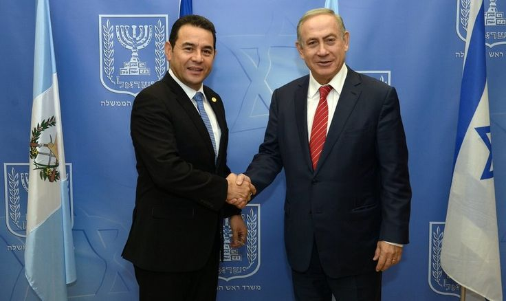 Prime Minister Benjamin Netanyahu meets with Guatamalan President Jimmy Morales at the Prime Minister's office in Jerusalem, on Nov. 29, 2016.