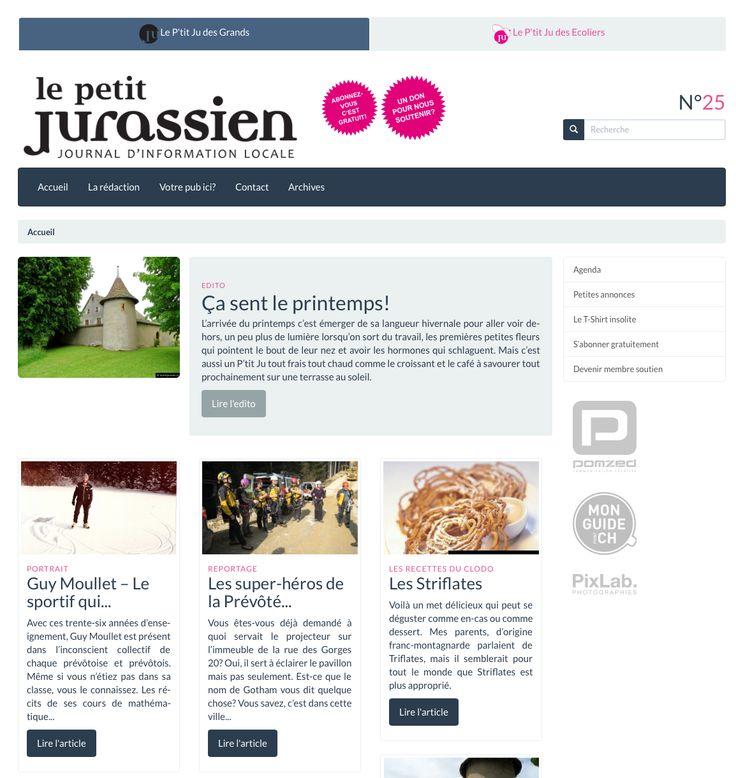 Le Petit Jurassien - Journal Internet Webzine pour l'Arc jurassien