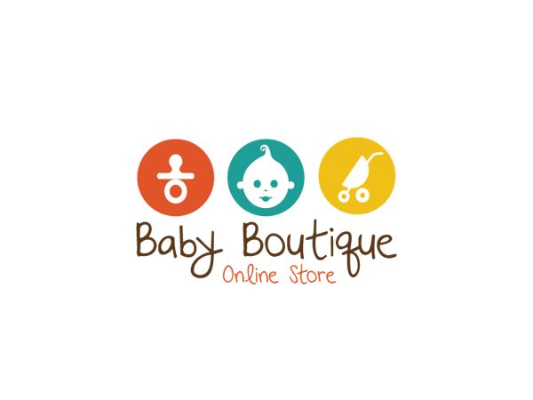 Baby Butique Logo Design by Aleksandar Nikcevic, via Behance