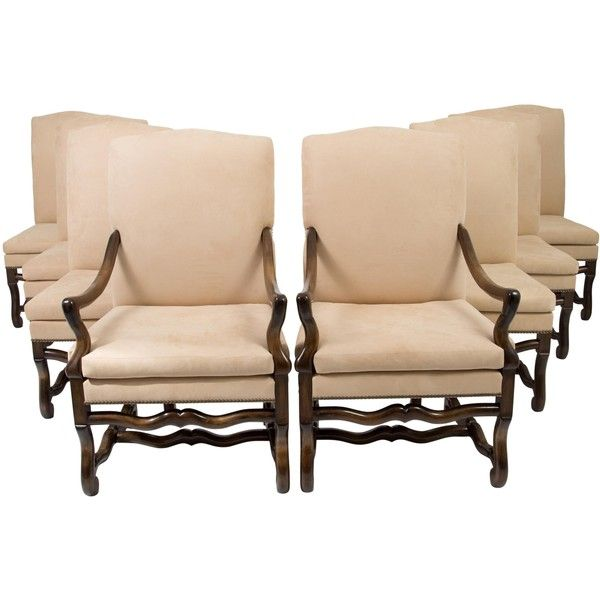 Pre-owned Kreiss Carlyle Dining Chairs featuring polyvore, home, furniture, chairs, dining chairs, neutrals, secondhand furniture, second hand chairs, hand carved chair, hand carved furniture and oversized furniture