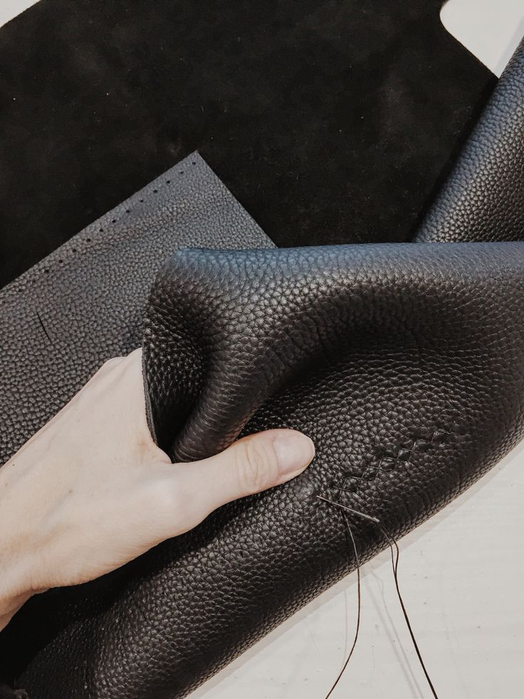 Hand stitched leather hand bag, one of a kind