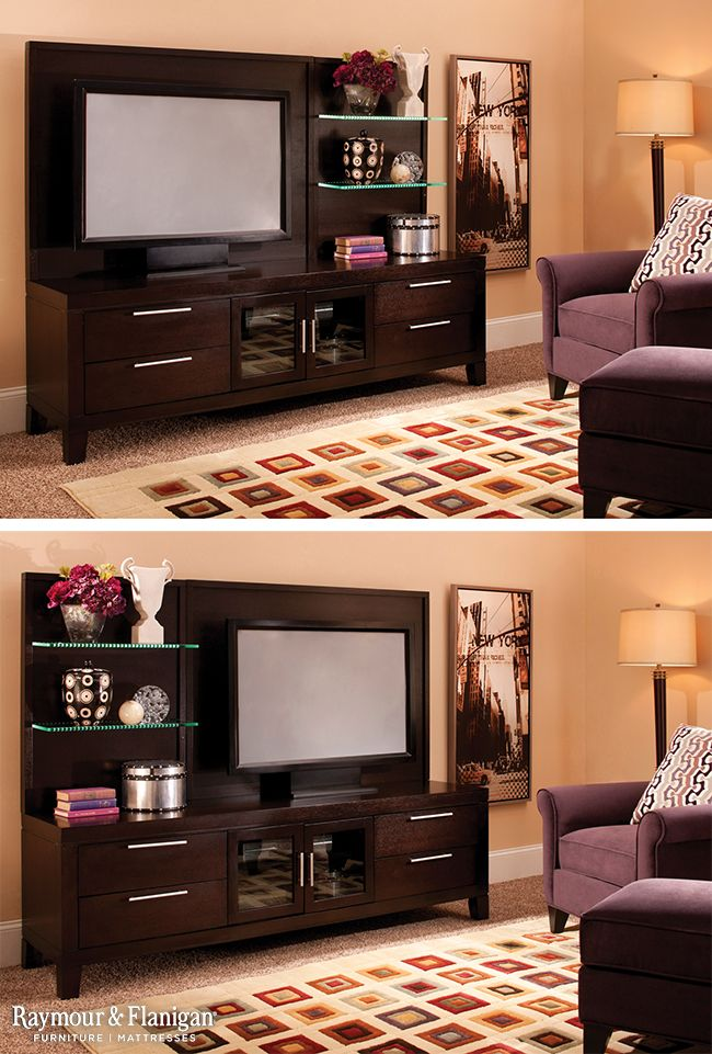 This Entertainment Center Is Ideal For Lovers Of Contemporary Design With Its Clean Lines And Brushed