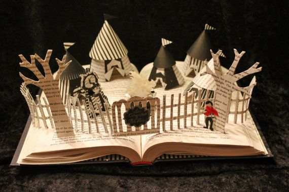 The Night Circus Book Sculpture by WetCanvasArt on Etsy, $200.00