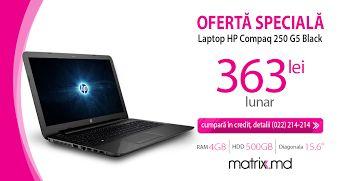Laptop HP Compaq 250 G5 Black in credit.