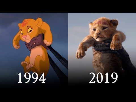 Side By Side Comparison Of The Lion King From 1994 And The