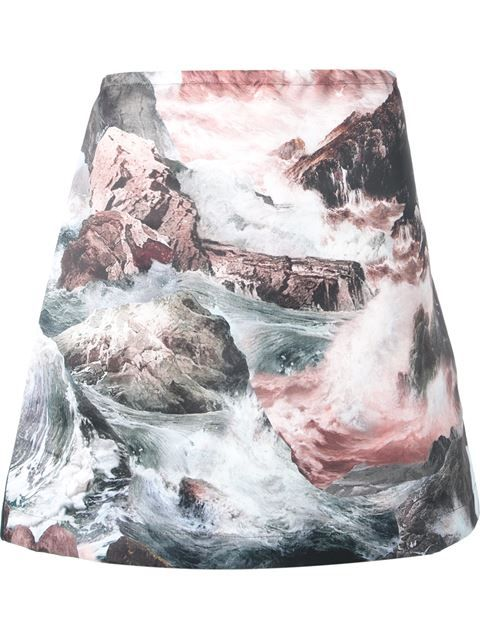 Shop Carven waterfall print skirt in Voo Store from the world's best independent boutiques at farfetch.com. Over 1000 designers from 60 boutiques in one website.
