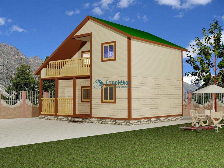 Дом 6х8 (Д-18) - Дома из бруса Двухэтажные   СтройУют