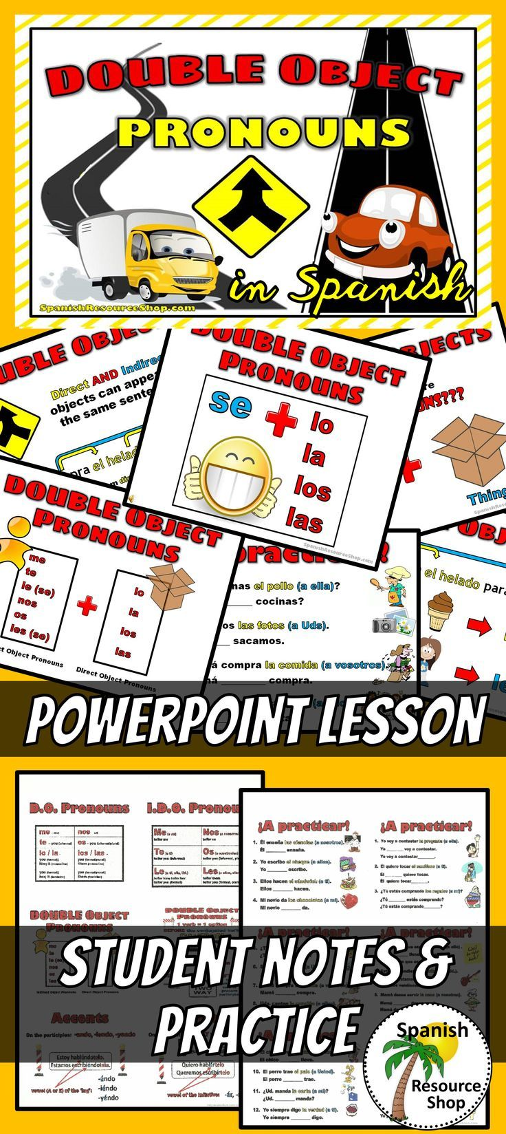 Fun Animated Ppt Helps Students To Understand The Double Object Pronouns Spanish Teacher Resources Learning Spanish Spanish Lesson Plans