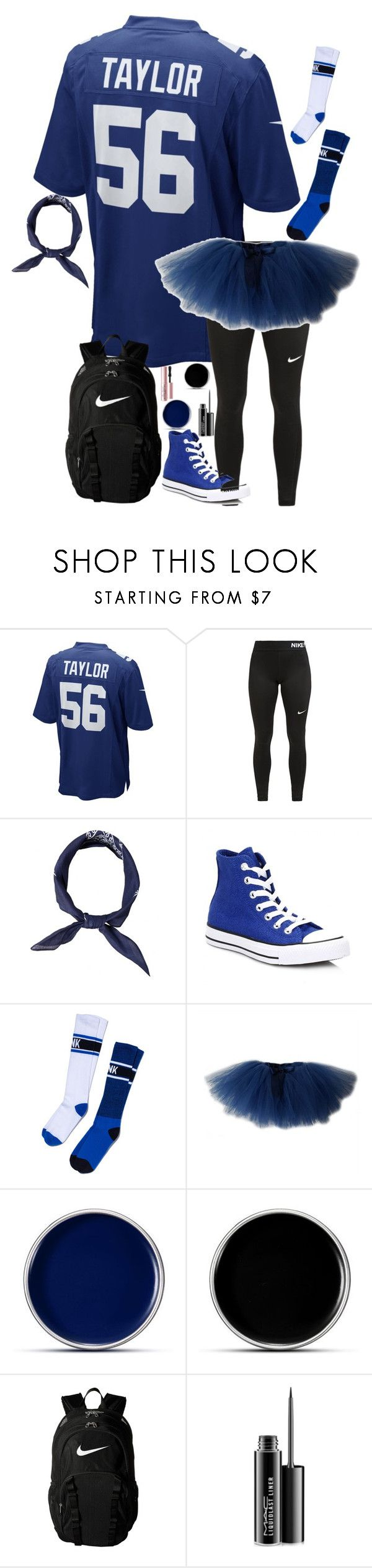 """Mathlete vs. Athlete Day"" by taylor-austinxoxo ❤ liked on Polyvore featuring NIKE, Converse, Lilly + Bo, MAC Cosmetics and Too Faced Cosmetics"