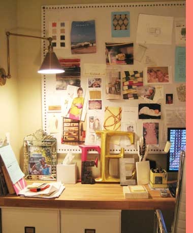 Erika Powells Desk Of Urban Grace Interiors Love How Eclectic And Out Place But In Everything Is