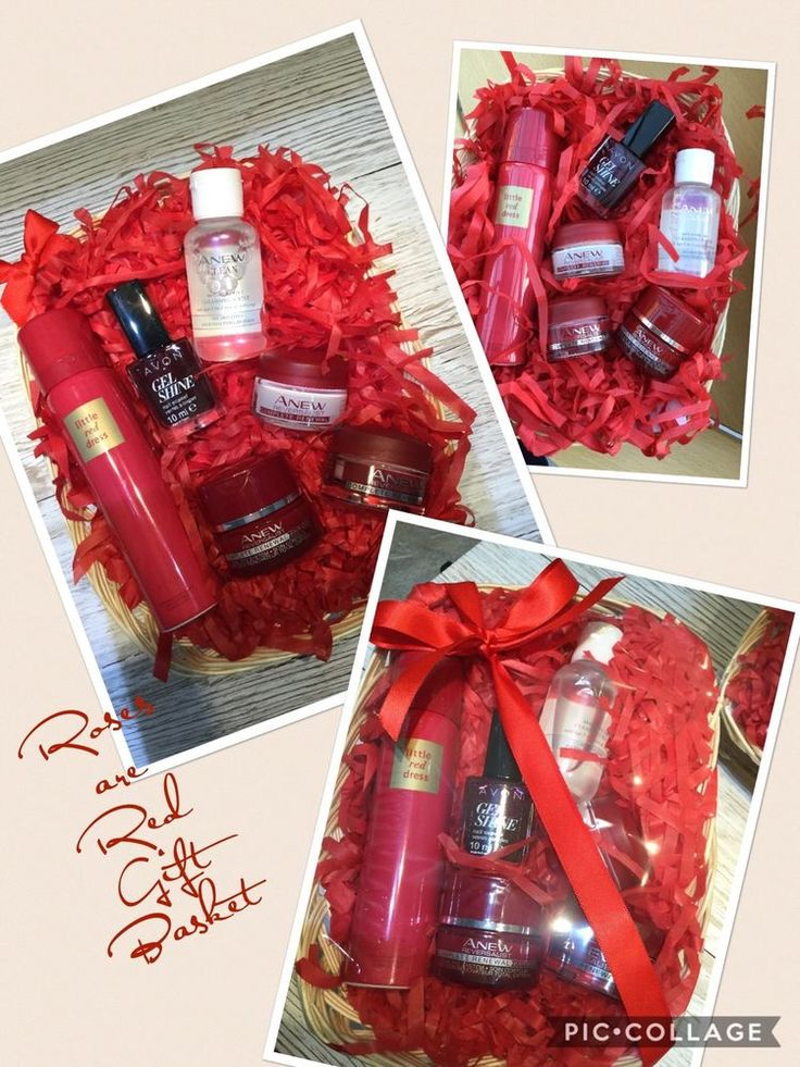 Details about ladies avon skincare basket box mothers day