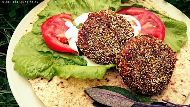 Warzywne burgery z czerwonej fasoli