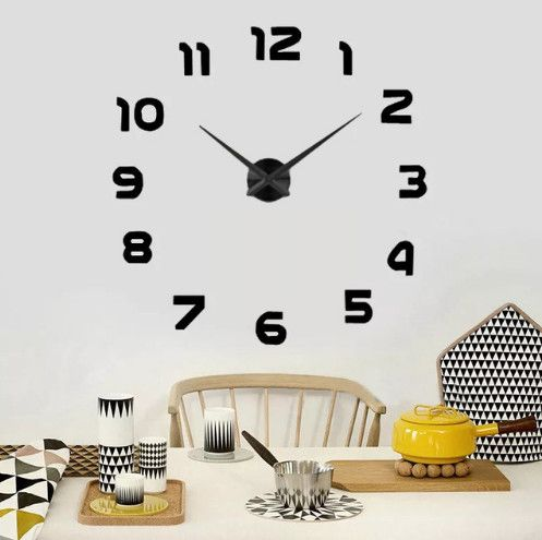 2016 New Home decoration wall clock big mirror wall clock Modern large wall clock diy wall sticker unique gift