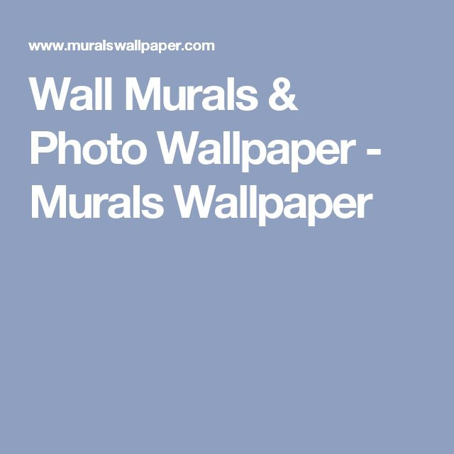 Wall Murals & Photo Wallpaper - Murals Wallpaper