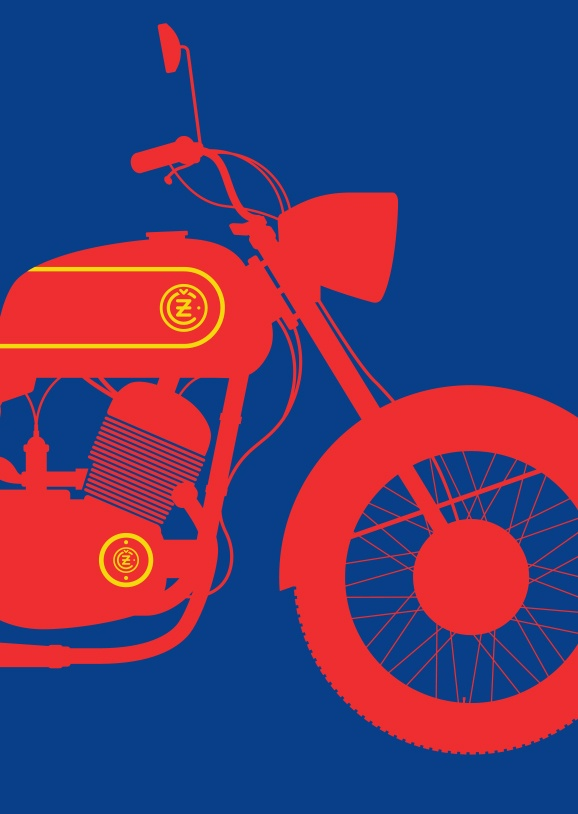 Jawa CZ 175 by Tim George –from a series now available on www.print-process.com
