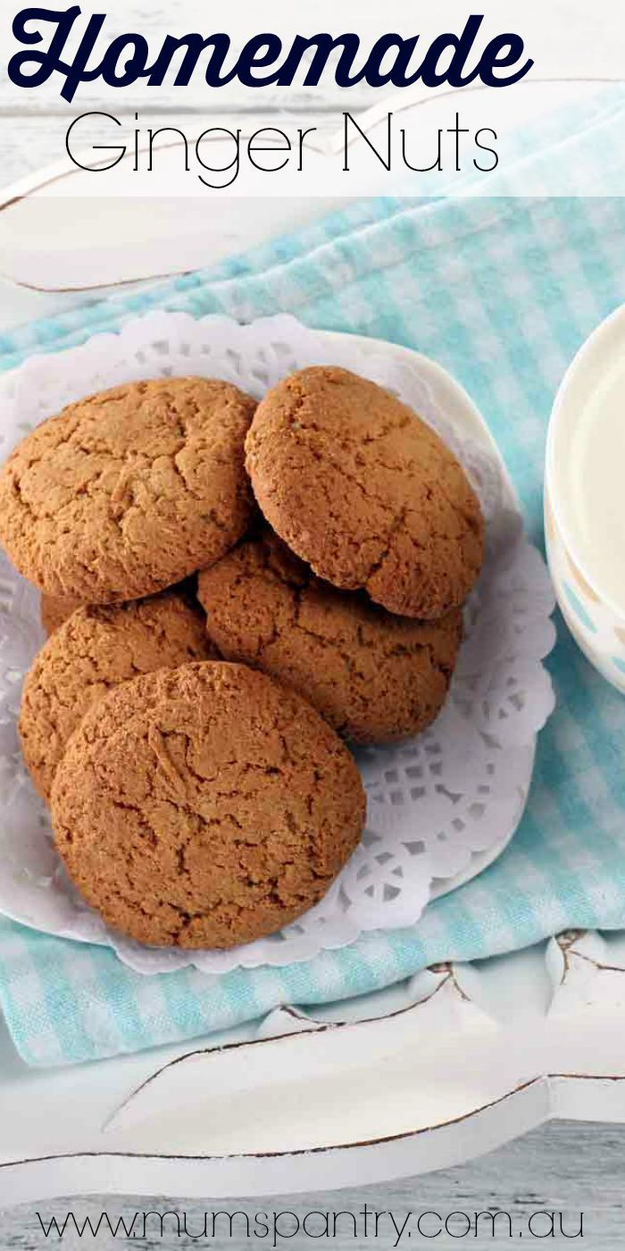 Ginger Nut Biscuits - Mum's Pantry