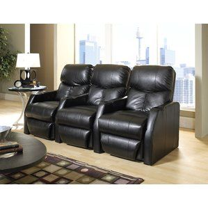 Go shopping for Modern Home Theater Recliner (Row of 3)