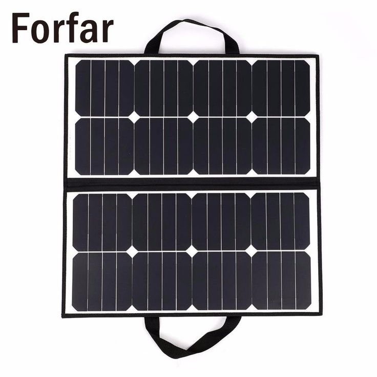 check price fofar 50w 18v portable camping waterproof folding solar panel charger battery for #folding #solar #panel