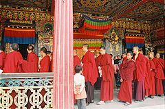 "Tibetan Buddhism is the body of Buddhist doctrine and institutions characteristic of Tibet, the regions surrounding the Himalayas and much of Central Asia. It derives from the latest stages of Indian Buddhism and preserves ""the Tantric status quo of eighth-century India.""[1] Tibetan Buddhism aspires to Buddhahood or rainbow body.[2]"