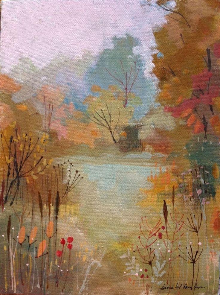 Original Acrylic Landscape Painting on Canvas - Autumn- by ...