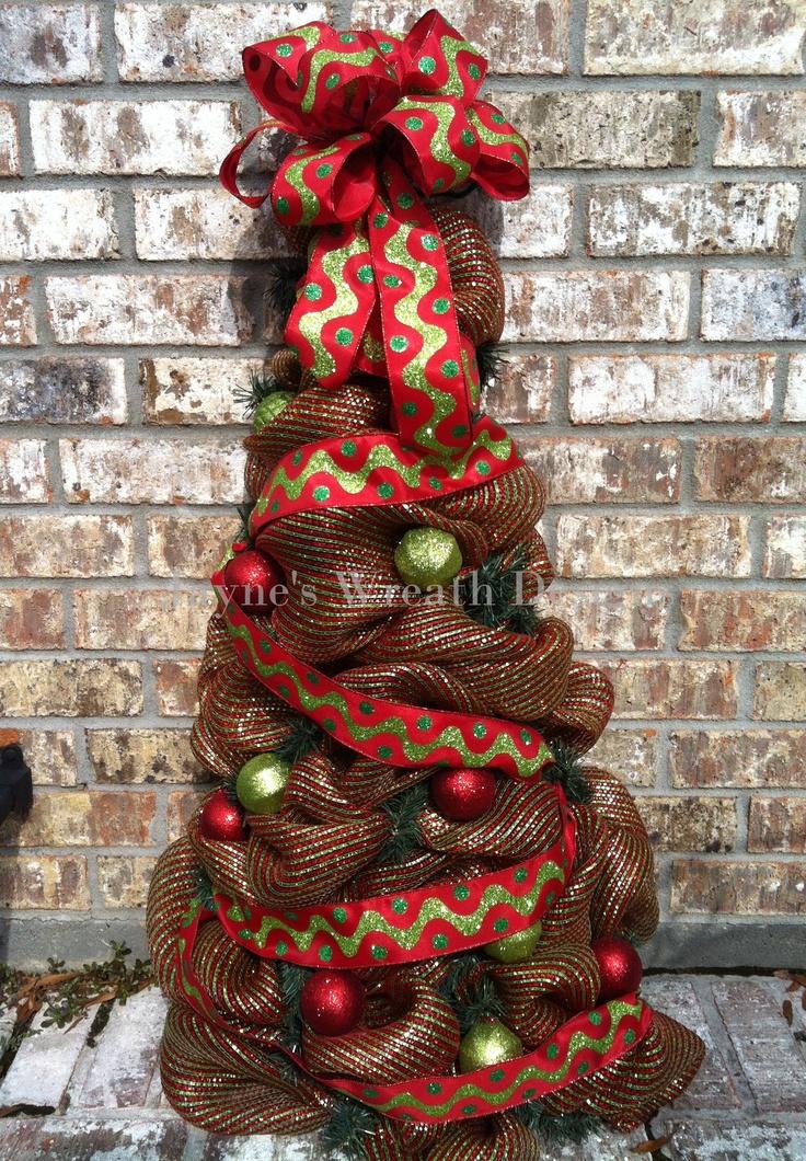 Deco mesh tree | Holiday: Christmas | Christmas tree ...