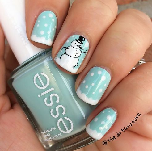 snowman winter nail designs