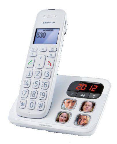 Sagem D142TBLANC - Teléfono inalámbrico, color blanco [Importado de Francia] B0098KUL3Y - http://www.comprartabletas.es/sagem-d142tblanc-telefono-inalambrico-color-blanco-importado-de-francia-b0098kul3y.html