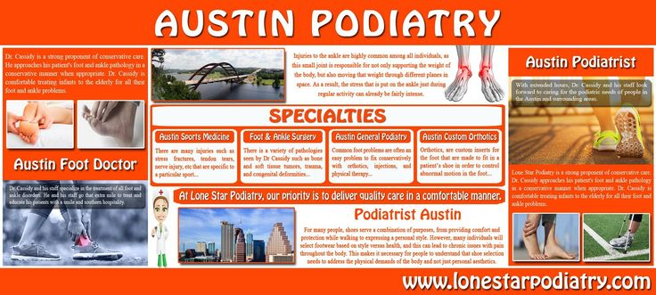 Until they need to visit a doctor that specializes in feet and ankle problems, most patients don't know much about what a podiatrist or a foot doctor is, or what they do. Browse this site http://www.lonestarpodiatry.com for more information on Austin Foot Doctor. A foot doctor, also known as a podiatrist, helps people take care of one of the most important parts of the body. Therefore get the best Austin Foot Doctor.  Follow us https://austinfootdoctor.wordpress.com/