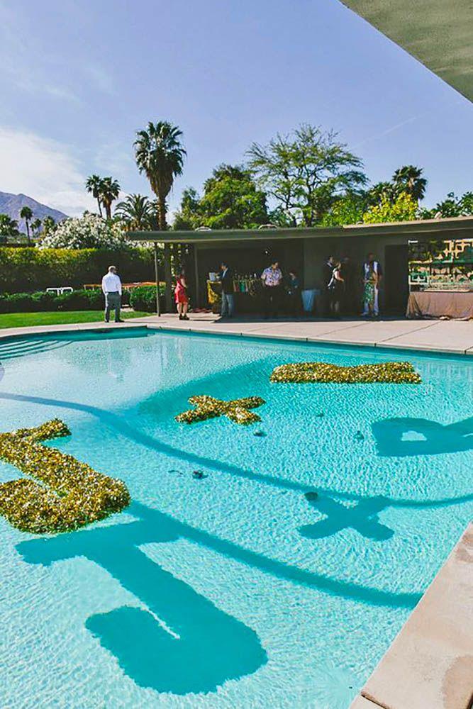 Pool Decoration Ideas outdoor leveled pool 15 Pool Decor Ideas For Your Backyard Wedding