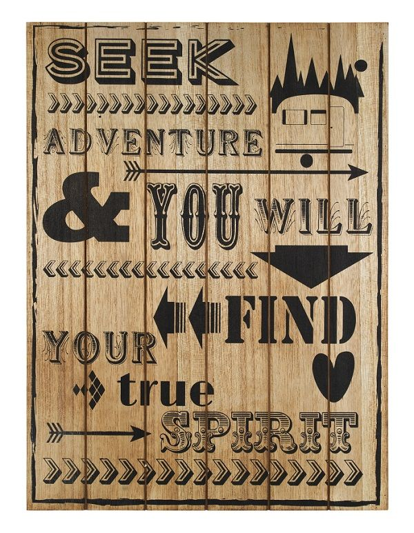 Perfect for travel lovers everywhere, we can't get enough of this Seek Adventure Wall Art.