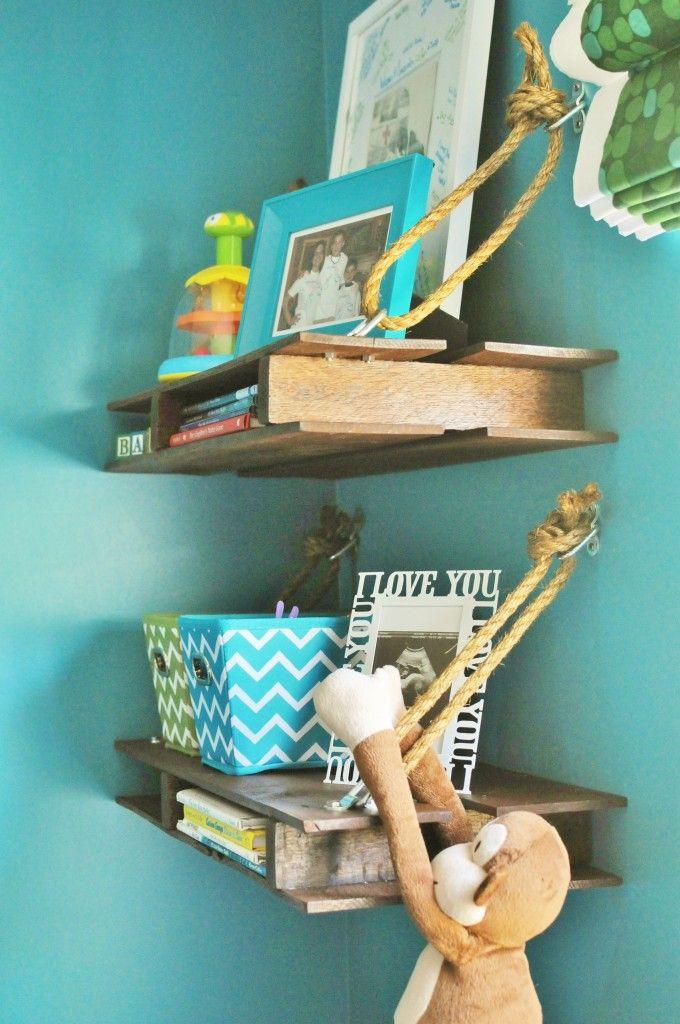 Reclaimed Pallet Shelves