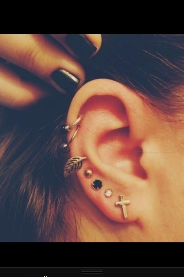 I love a bunch of ear piercings. And the earrings.