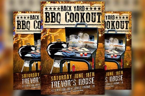 Backyard Bbq Party Flyer Template By Flyermind On Creative