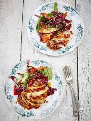 BBQ Chicken | Chicken Recipes | Jamie Oliver Recipes SWAP OUT KETCHUP FOR TOMATO and use IP MAPLE SYRUP if in phase ONE